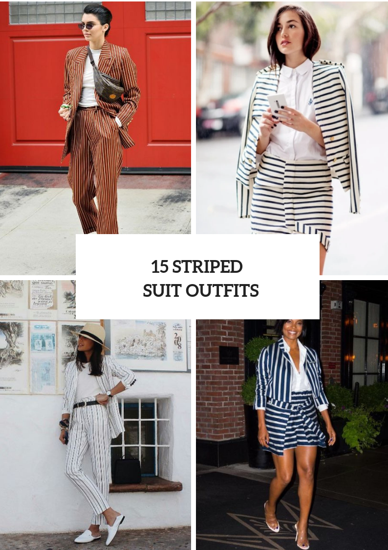 Outfits With Striped Suits For Women