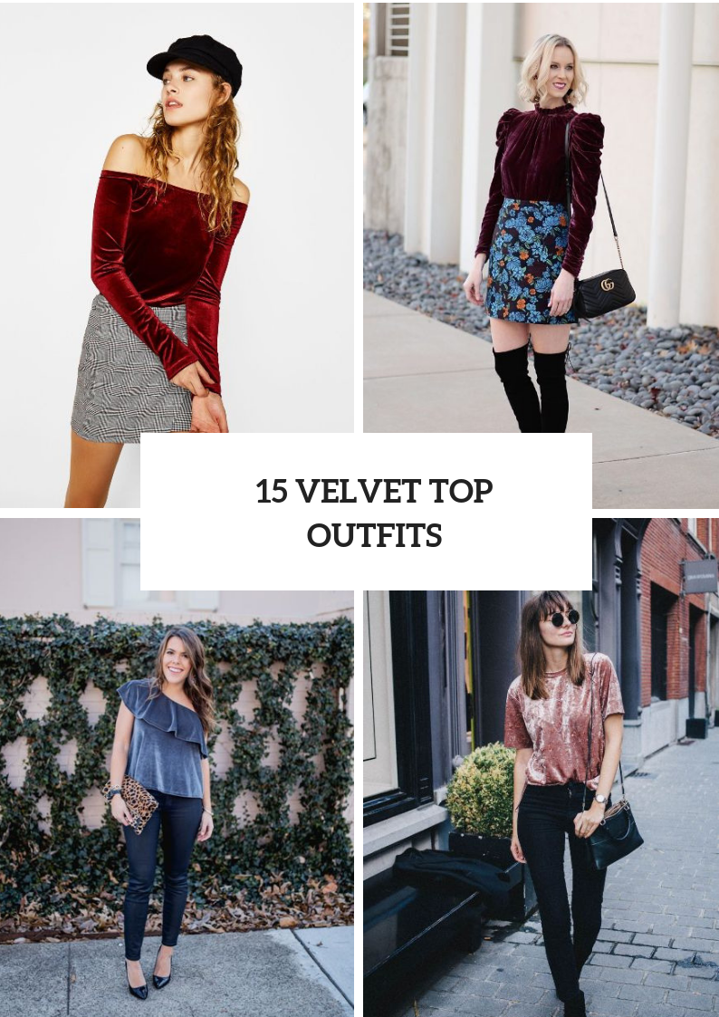 Stylish Outfits With Velvet Shirts