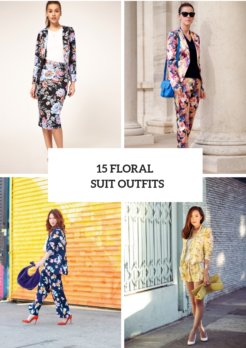Wonderful Outfits With Floral Suits