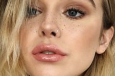 15 a casual and neutral nose ring piercing will add a daring touch even to the most neutral makeup