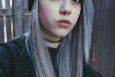 15 a hoop nose piercing plus a septum hoop for a bold and trendy look with a bit of edge