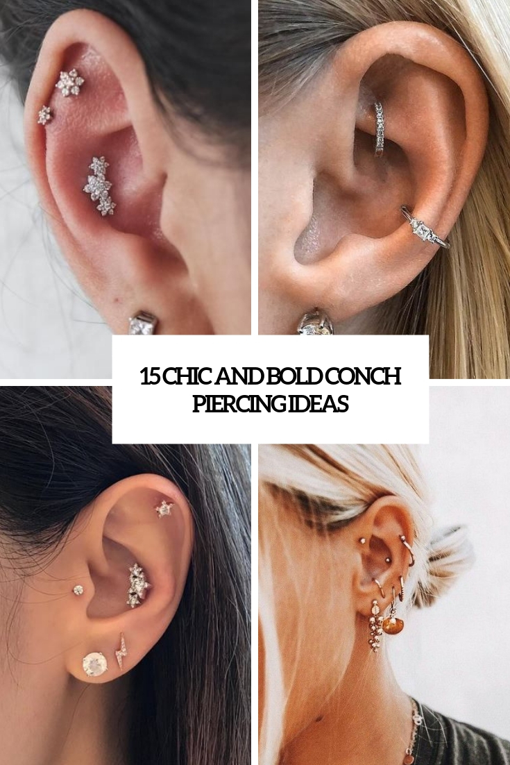 chic and bold conch piercing ideas cover