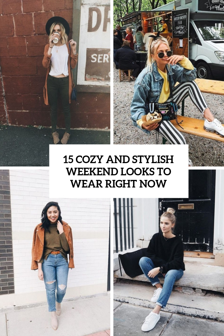 cozy and stylish weekend looks to wear right now cover