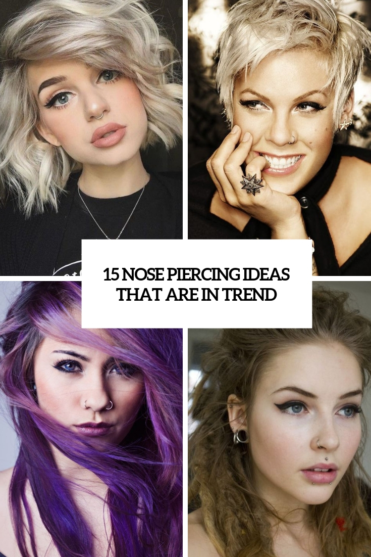 15 Nose Piercing Ideas That Are In Trend