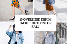 15 oversized denim jacket outfits for fall cover