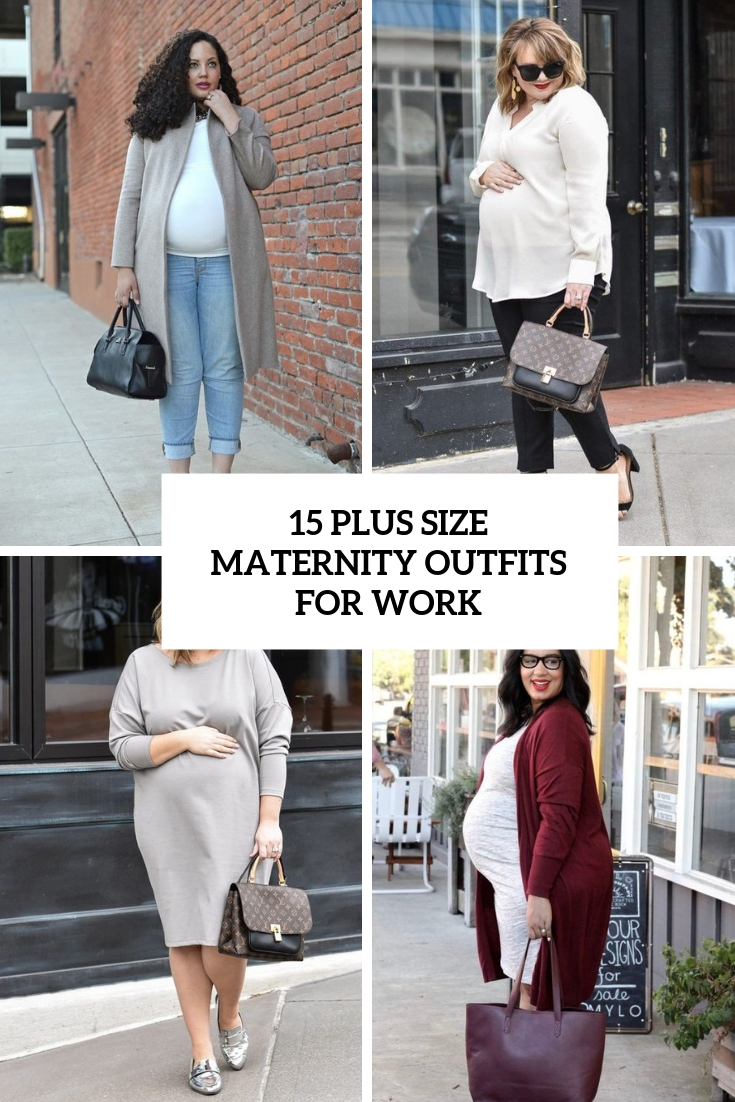 plus size maternity outfits for work cover