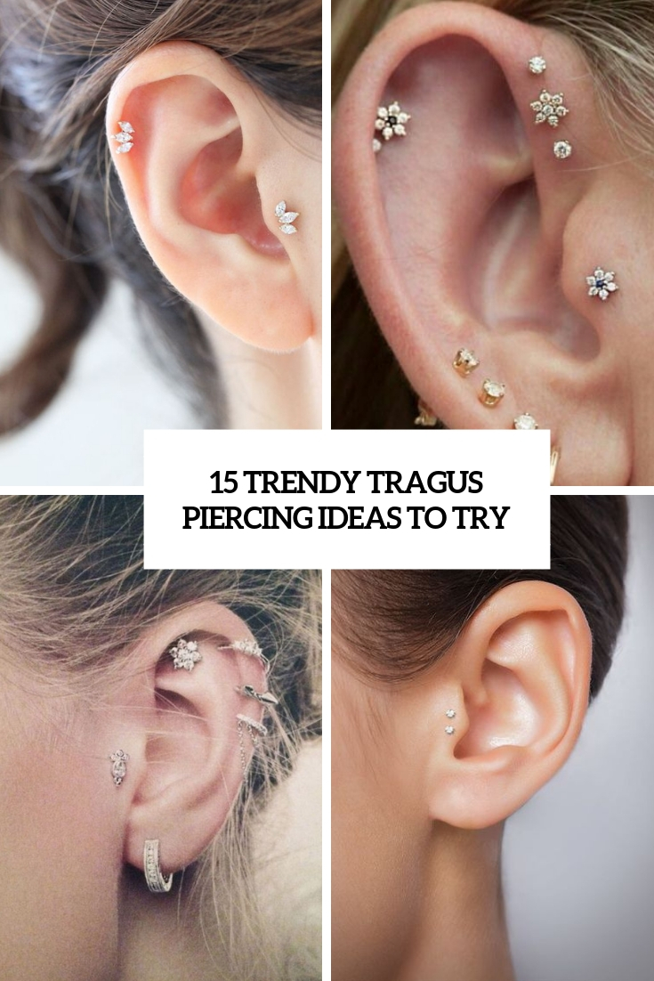 trendy tragus piercing ideas to try cover