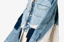 With super distressed straight jeans