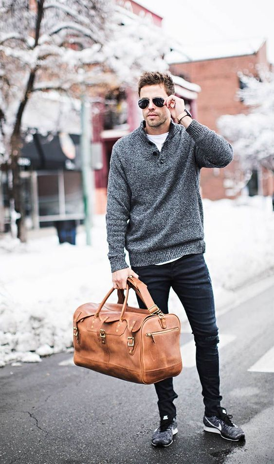 a brown leather bag with belt and buckles isn't veyr large but you'll be able carry something small