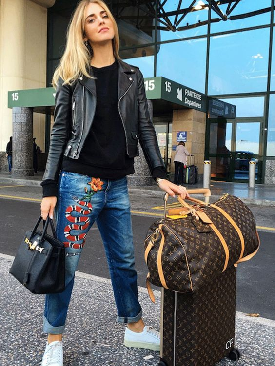 a stylish couple of a weekender bag and a suitcase is a perfect duo for travelling with chic
