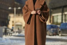 12 a brown woolen straight and oversized coat for bold winters – what can be better than that