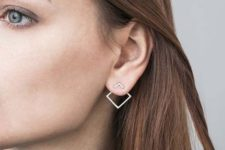 14 a minimalist geometric earring will make a statement but won't look excessive at the same time