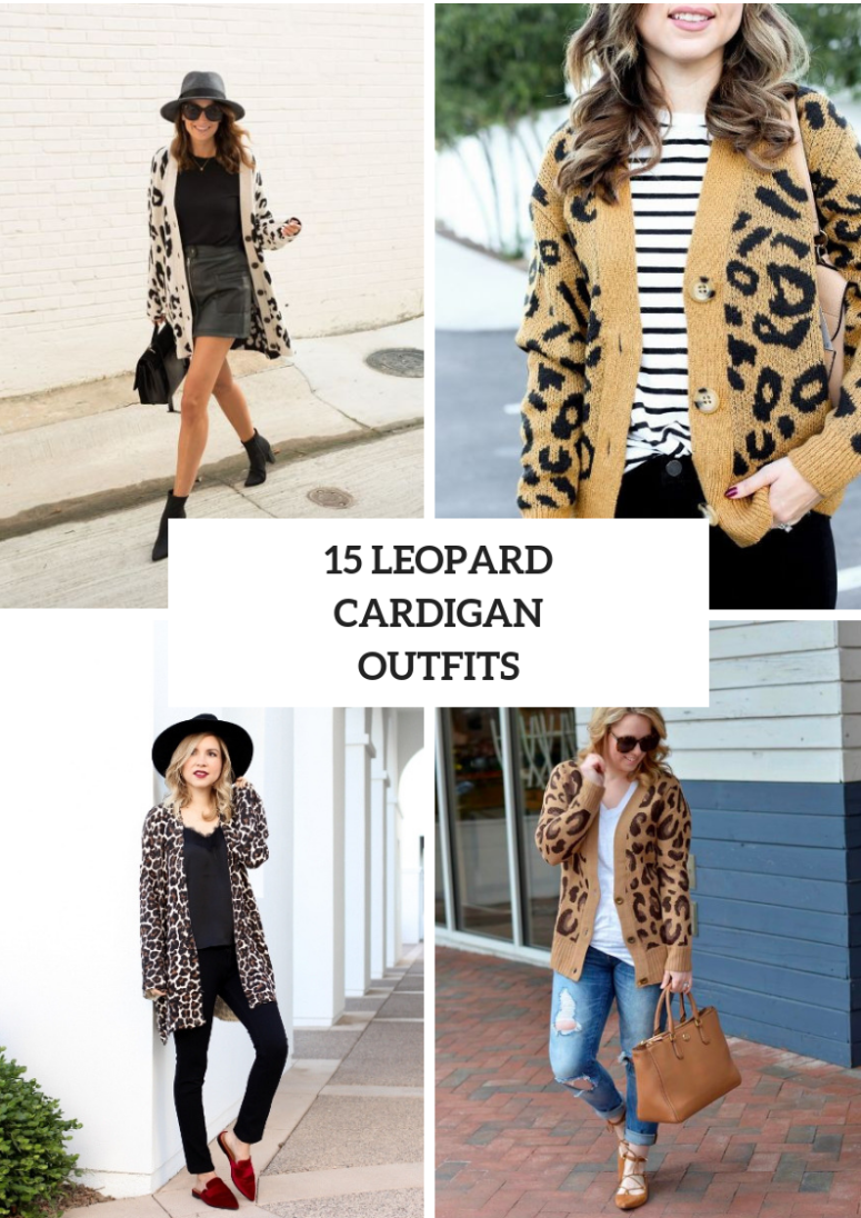 Comfy Outfits With Leopard Cardigans
