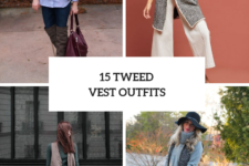 15 Elegant Look Ideas With Tweed Vests