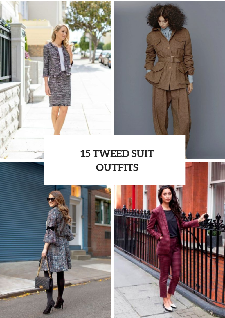 15 Fall Outfits With Tweed Suits For Ladies