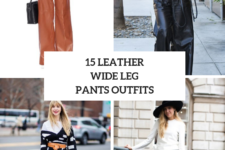 15 Outfits With Leather Wide Leg Pants