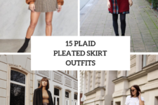 15 Outfits With Plaid Pleated Skirts