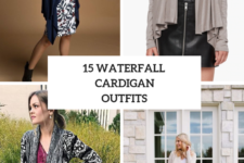 15 Outfits With Waterfall Cardigans For Ladies