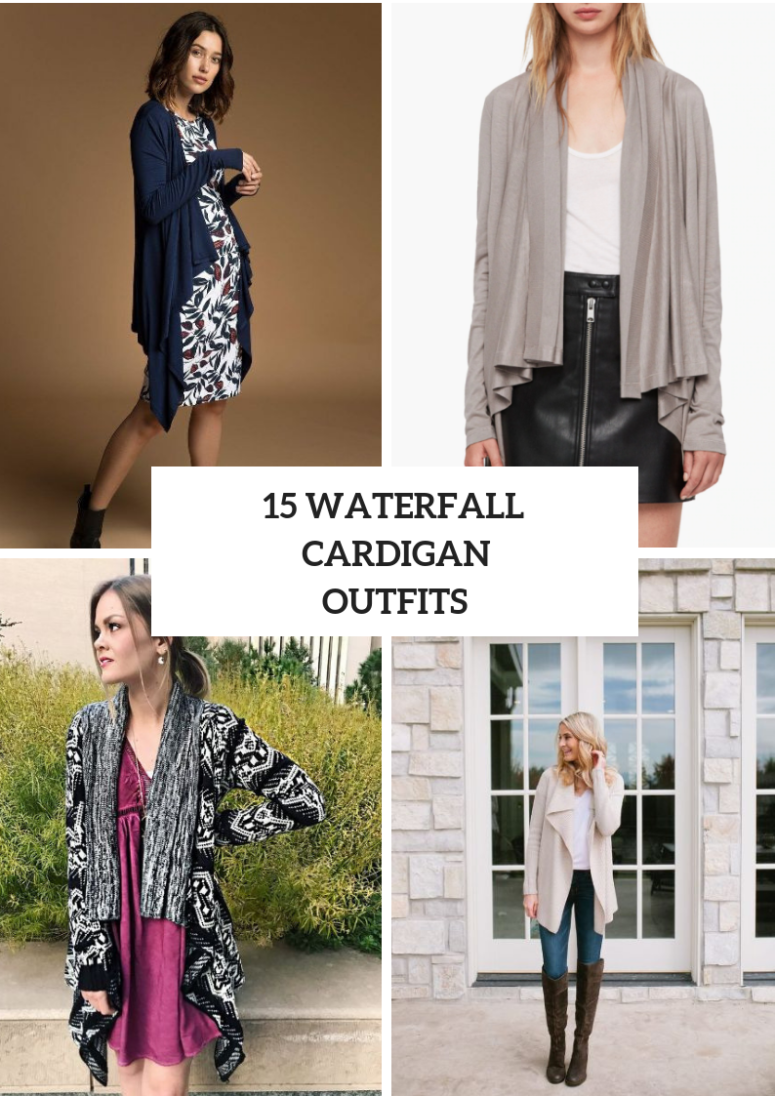 Outfits With Waterfall Cardigans For Ladies