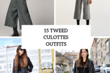15 Tweed Culottes Outfits For This Season