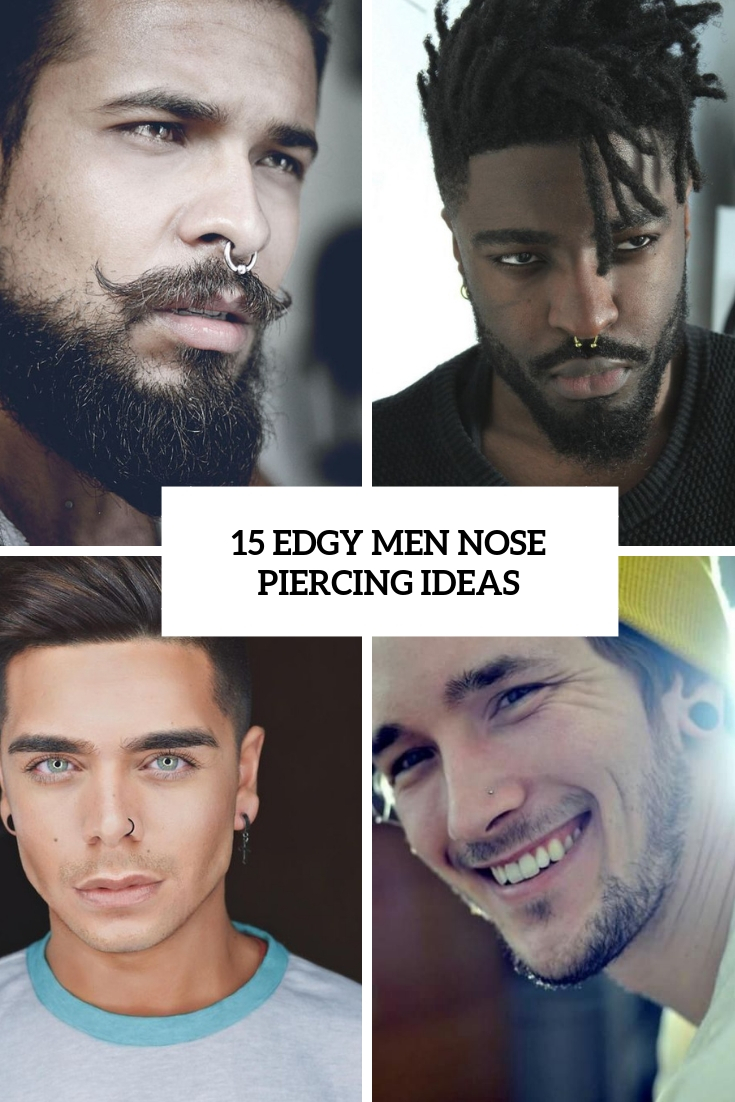 edgy men nose piercing ideas cover