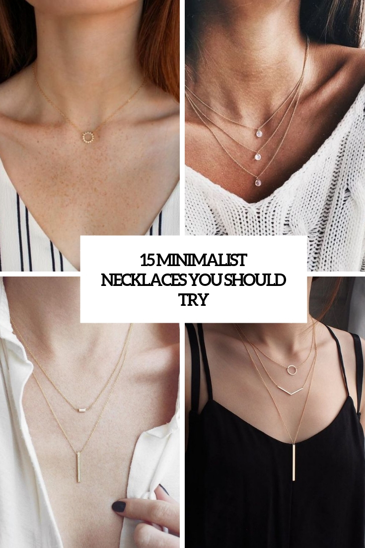 15 Minimalist Necklaces You Should Try