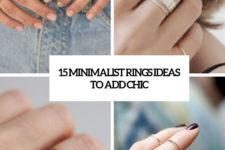 15 minimalist rings ideas to add chic cover