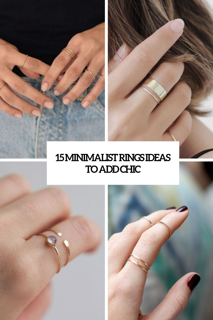 15 Minimalist Rings Ideas To Add Chic