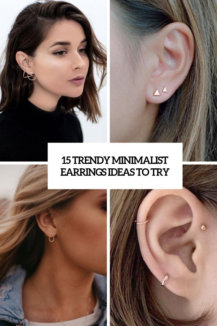 trendy minimalist earrings ideas to try cover