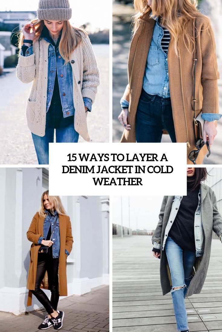ways to layer a denim jacket in cold weather cover