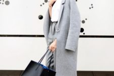 16 a minimalist straight grey coat with no pockets is always a good idea for cold weather
