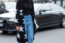 a printed cardigan is perfect for fall outfits