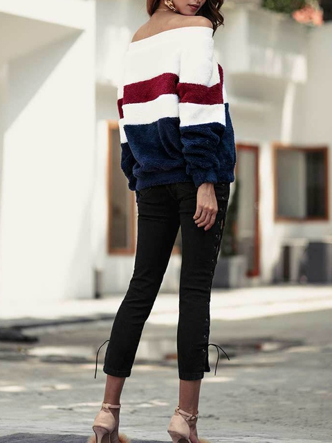 With cropped pants and beige shoes