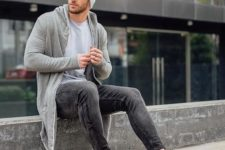 a fall outfit with trainers