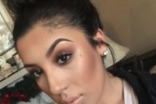 accenting faces with dermal piercings is a popular idea to go for and give a bling to your face