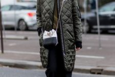 06 a bomber-inspired khaki quilted coat is a great idea for fall and it's sport-inspired