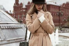 06 a camel wrap coat is double classics – its type and its color are timeless and will never be outdated