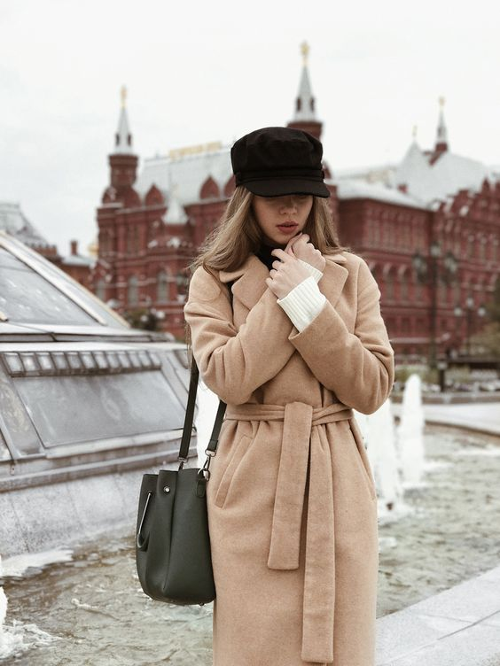 a camel wrap coat is double classics - its type and its color are timeless and will never be outdated
