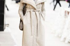 08 a creamy quilted coat with a sash to accent the waist is a very cool and cute idea