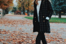 09 a beret can be also paired with a blazer coat, too, and it will look cool and chic