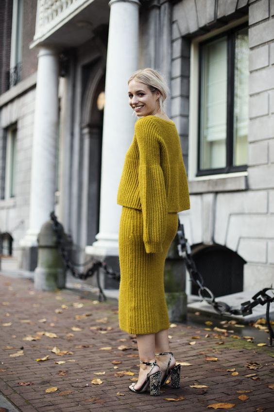 an all mustard look