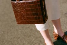 12 a mini crocodile leather bag with a rigid shape is amazing for this fall and winter
