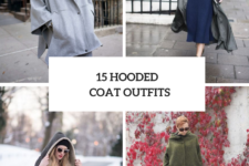 15 Looks With Hooded Coats For Ladies