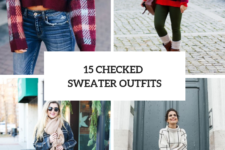 15 Outfits With Checked Sweaters For Ladies