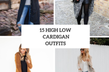15 Outfits With High Low Cardigans For Ladies