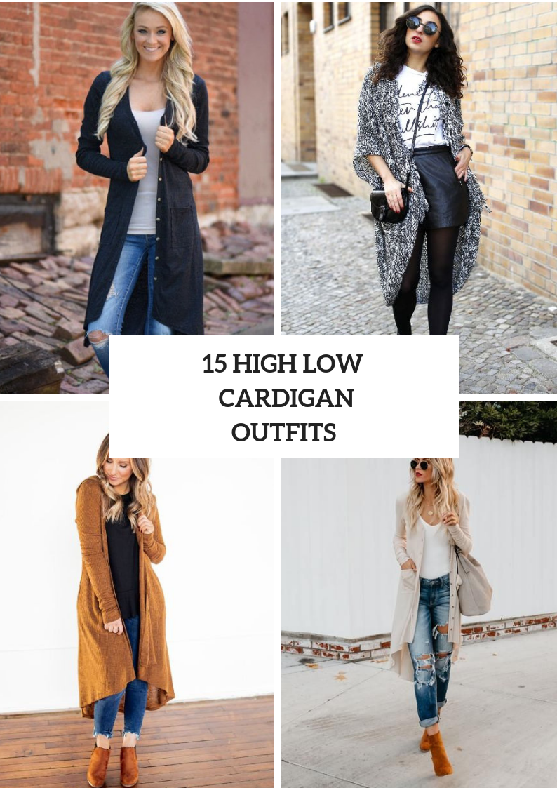 Outfits With High Low Cardigans For Ladies