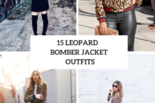 15 Outfits With Leopard Bomber Jackets