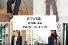 15 Outfits With Tweed Wide Leg Trousers
