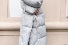 15 a dove grey blanket padded coat is a stylish and trendy idea that will make you feel warm