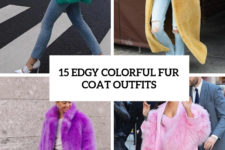 15 edgy colorful fur coat outfits cover